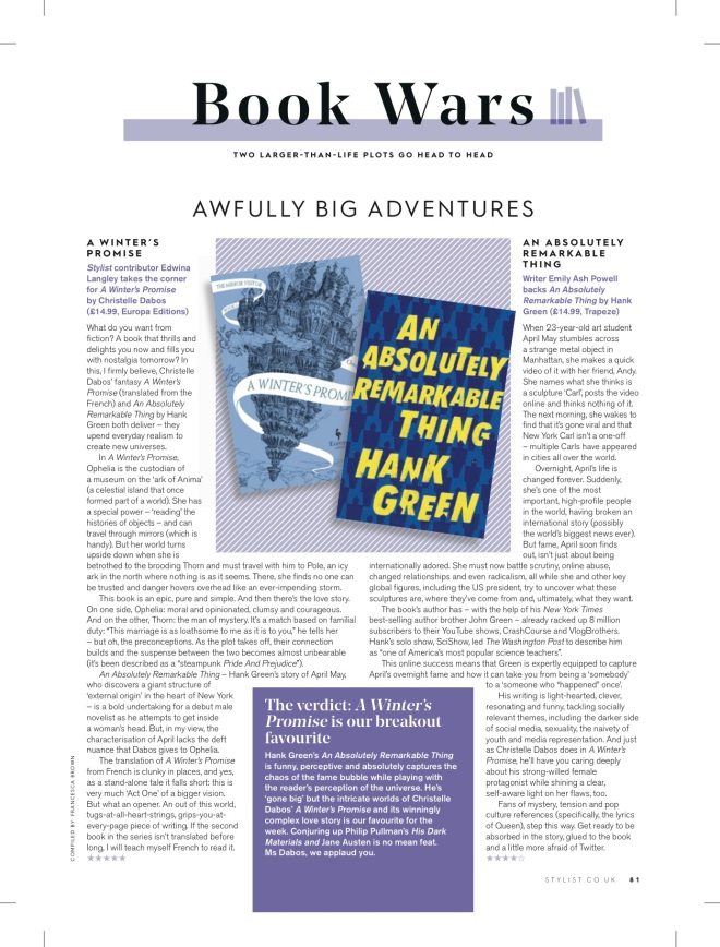 An Absolutely Remarkable Thing   Review [Stylist Magazine